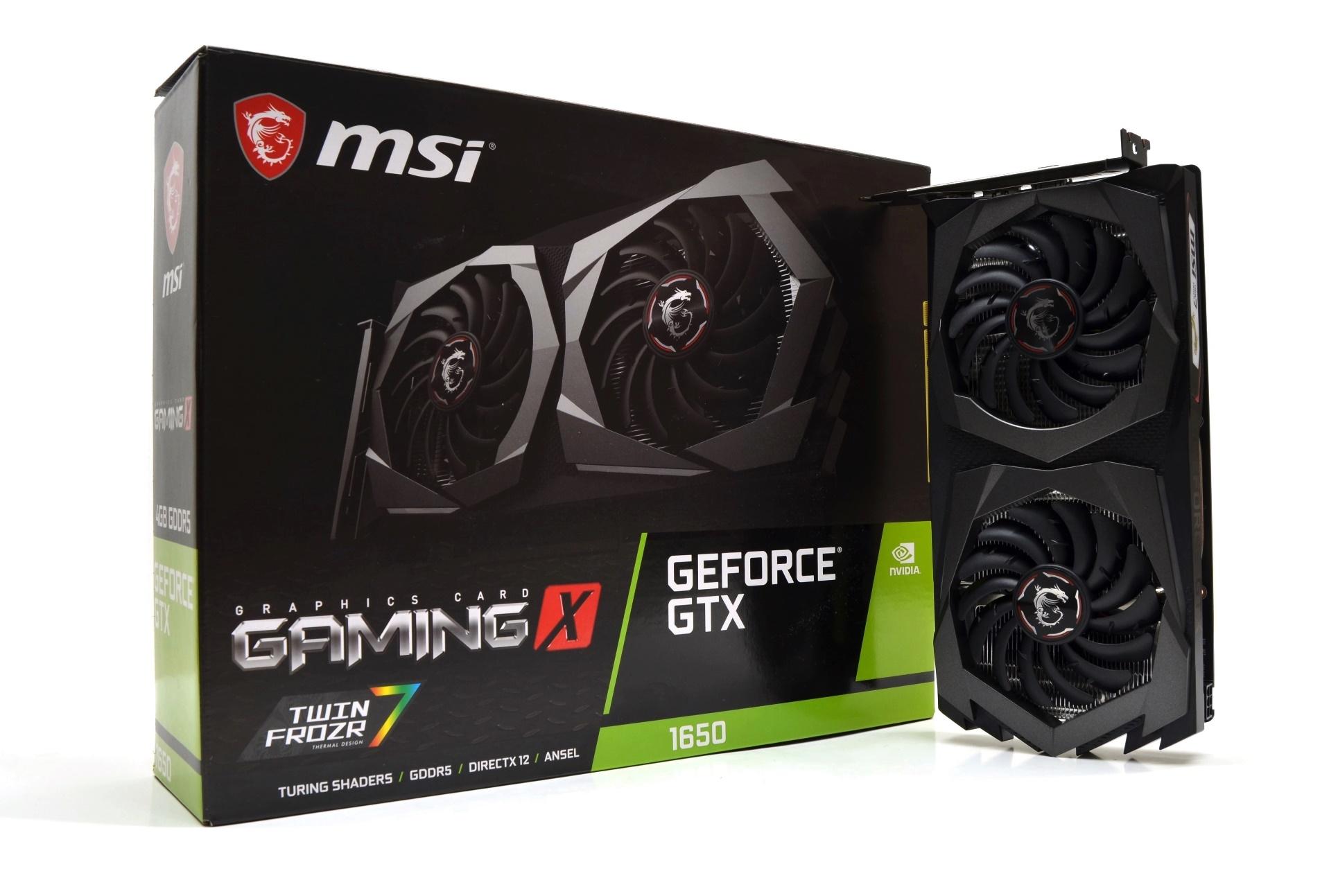 مراجعة بطاقة MSI GTX 1650 GAMING X 4GB - Darktech